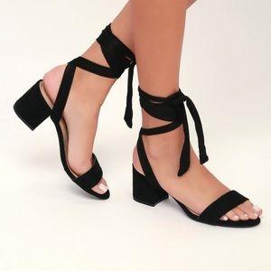 Lulus wrap heels